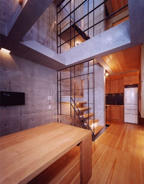 Height Ceiling Designs by Seven A Towering Concrete Townhouse By Apollo Architects