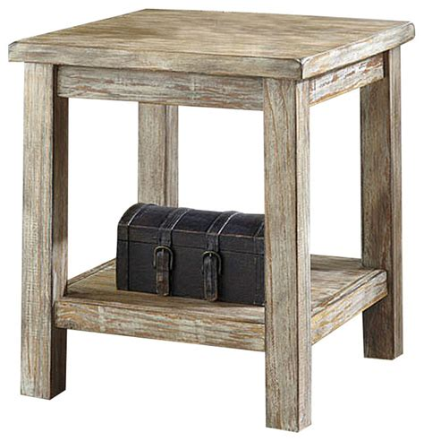 Rustic Bedroom End Tables Rustic Accents Chairside Accent End Table Distressed