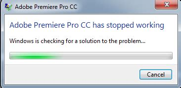 Adobe Premiere Pro Has Stopped Working | june 2015 from fcp 7 to premiere