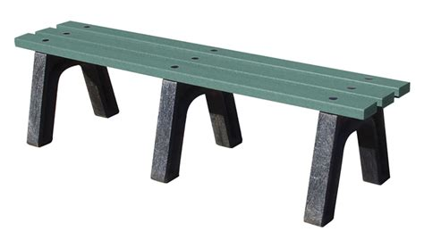 trail bench easycare trail style backless bench