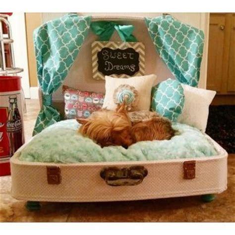 suitcase dog bed 25 parasta ideaa pinterestiss 228 suitcase dog beds lemmikien pedit