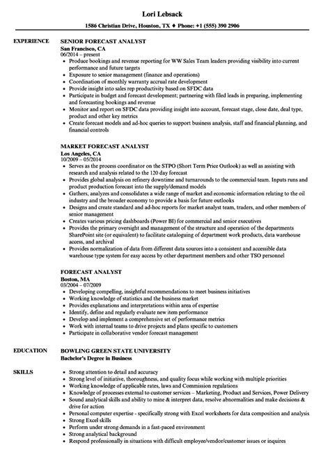 Forecasting Analyst Cover Letter by Forecasting Analyst Sle Resume Pl Sql Developer Cover Letter