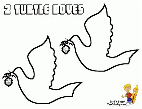 turtle dove template turtle doves coloring pages coloring home