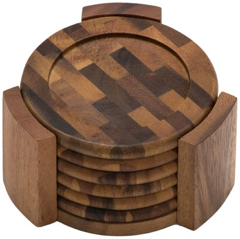 Wooden Coaster 5 best wood coaster set potect your table no matter what