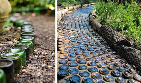 recycled glass bottlesmaybe  cans filled  sand   love    wouldnt