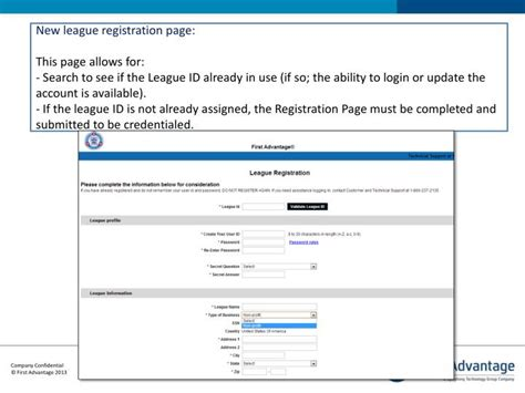Advantage Background Check Login Ppt League Background Checks By Advantage Powerpoint Presentation Id