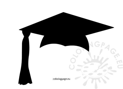 graduation hat template black graduation cap coloring page