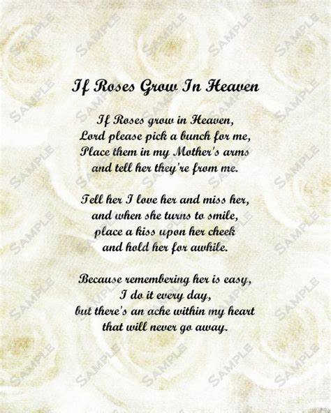 funeral poems memorial poems to read at a funeral free memorial poem for mother roses in heaven by