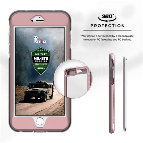 for apple iphone 7 4 7 zizo ion tempered glass tough armor cover ebay