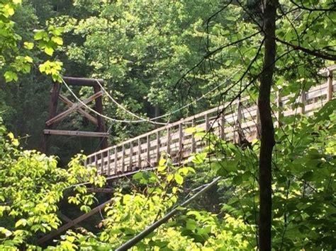 swinging bridge over toccoa river toccoa river swinging bridge blue ridge ga kid