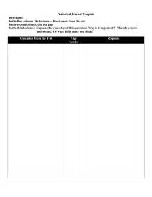 dialectical journal template thibonenglish dialectical journal