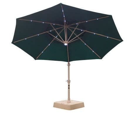 Patio Umbrella With Lights Qvc Southern Patio Deluxe Tier Offset Solar