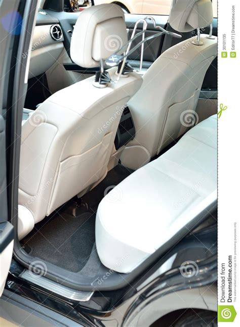 upholstery leather car seats white car seats stock image image of interior gray
