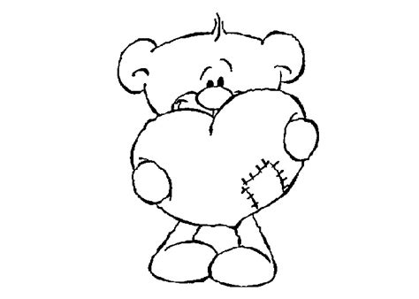coloring pages of bears holding hearts teddy bear holding a heart cliparts co