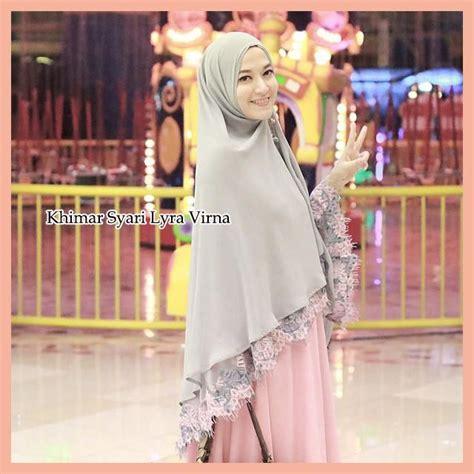 Busana Muslim Lyra Virna Syari khimar syari lyra virna trend fashion hijabers terbaru