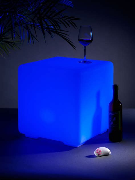 Auraglow Light Up Led Colour Changing Outdoor Mood Cube Light Up Outdoor Furniture