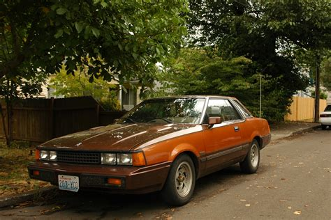 parked cars 1982 datsun 200sx coupe