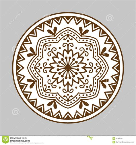 henna mehndi paisley flower doodle design cartoon vector