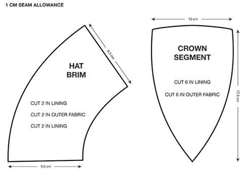 sewing pattern welding caps free cap pattern template pictures to pin on pinterest pinsdaddy