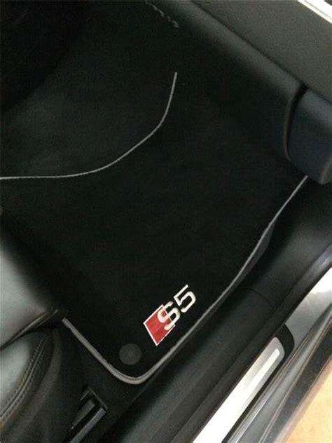 Audi S5 Car Mats by Autostyle Custom Audi S5 Logo Mats Complete Set Sold
