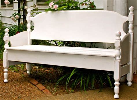 make a bench out of a headboard and footboard 15 awesome diy garden benches