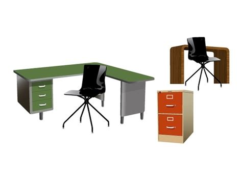 clip art office furniture layout clipart