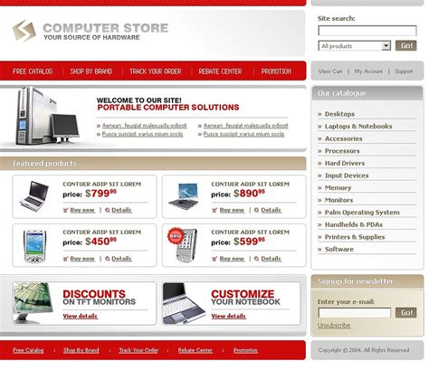 Computer Store Website Template Web Design Templates Website Templates Download Computer Computer Website Design Templates