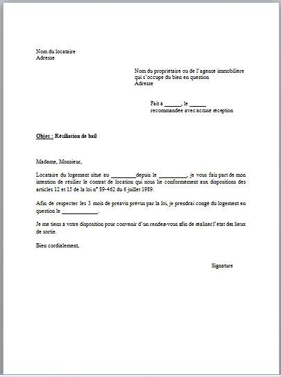 R Siliation De Bail Sans Pr Avis Lettre Modele Lettre R 233 Siliation Du Contrat D Assurances 224 233 Ch 233 Ance Pictures To Pin On