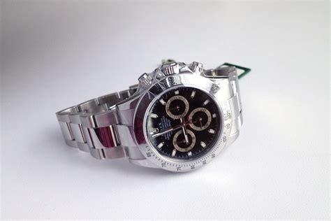 Jam Tangan Rolex Oyster Perpetual Rantai Hitam Automatic jual beli jam tangan mewah original baru dan bekas