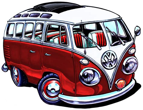 Vw Bus Red Version By Adster On Deviantart