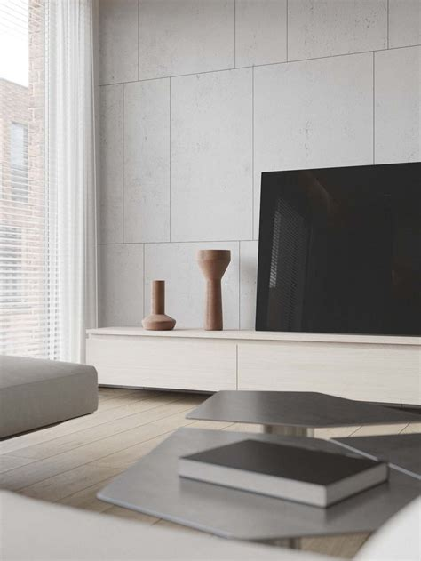 minimalist entertainment center modern apartment with workspace readvicereadvice