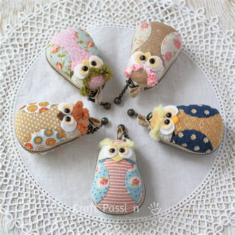 Owl Coin Purse owl macaron coin purse free sewing pattern craft