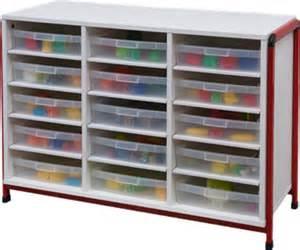 meuble bas 15 cases rangement maternelle maternelle