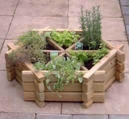 wooden herb planter herb wheel