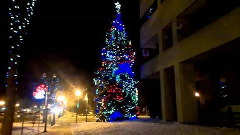 red bank tree lighting 2017 christmas led lights on tree beside city hall red deer ab