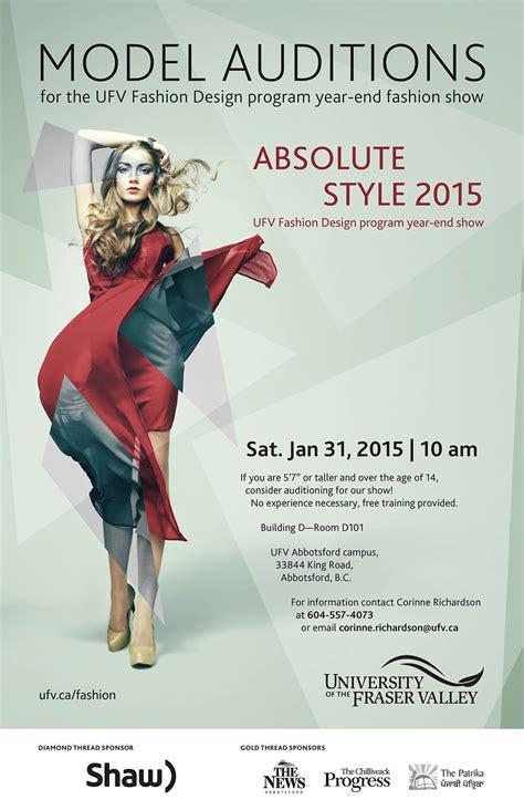 model auditions   ufv absolute style fashion show ufv