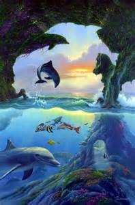 vase mit delfinen images de monde imaginaires mon monde fantastique