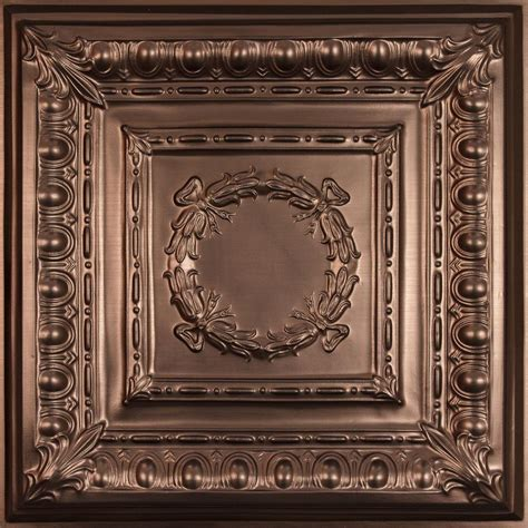 ceilume empire faux bronze 2 ft x 2 ft lay in or glue up