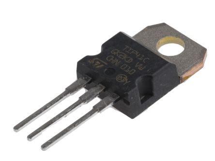 tip41c transistor tip41c stmicroelectronics tip41c npn transistor 6 a 100 v 3 pin to 220 stmicroelectronics