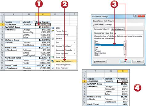 excel 2010 sorting tutorial microsoft excel 2010 changing summary calculations