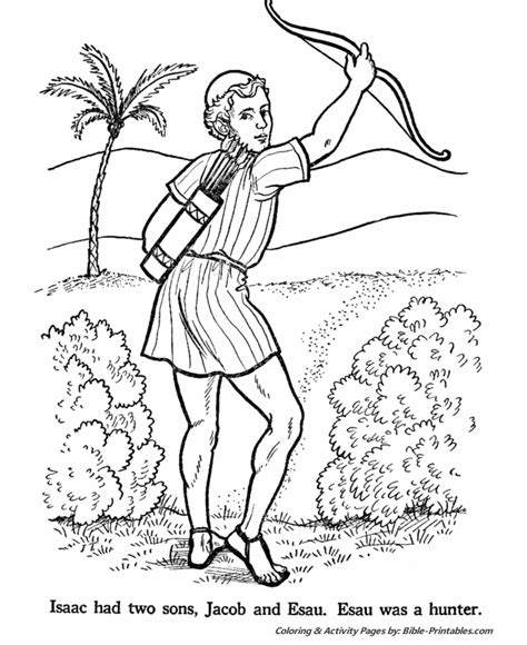 Jacob And Esau Old Testament Coloring Pages Bible