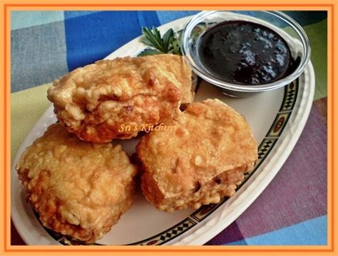 membuat bakso isi daging cincang my little kitchen tahu isi daging ayam cincang dan udanng