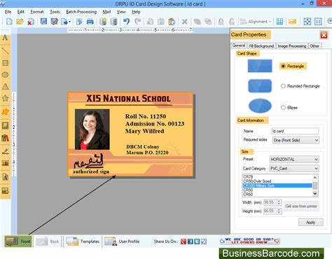 id card design software review id cards designer software business office suites