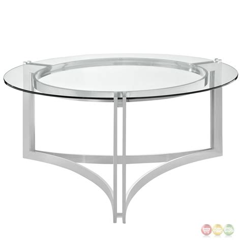 steel glass coffee table signet modern stainless steel coffee table w