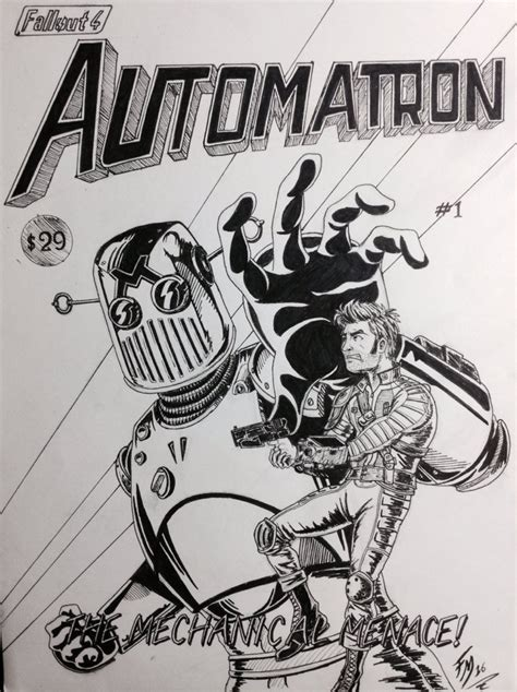 Fallout 4 Sketches by Fallout 4 Comic Book Cover Automatron 1 By Sketch Fox