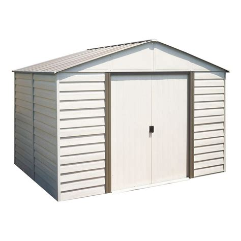 10 x 12 shed with floor arrow milford 10 ft x 12 ft vinyl coated steel storage