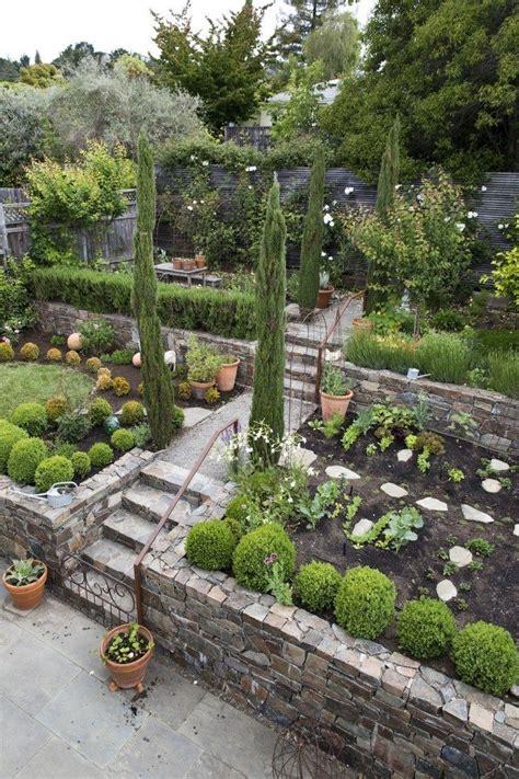 trending  gardenista lush  layered sloped garden
