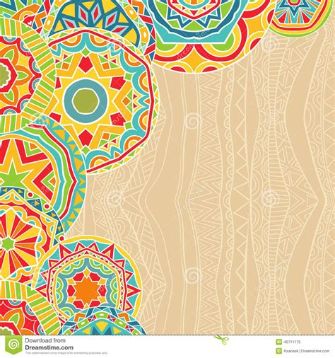 Bright Rounds At Ethnic Background Stock Vector   Image