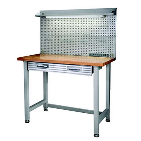 sam bench seville classics lighted hardwood top workbench sam s club