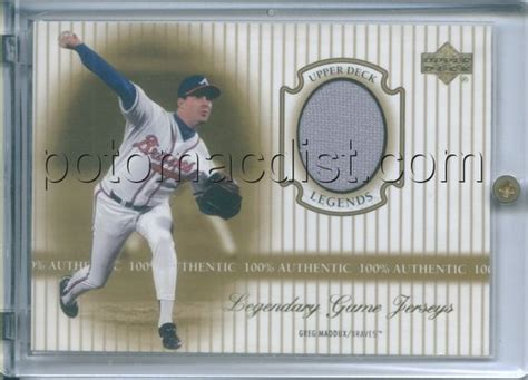 legendary usa coupon code 00 u deck legends greg maddux jersey card j gm 7
